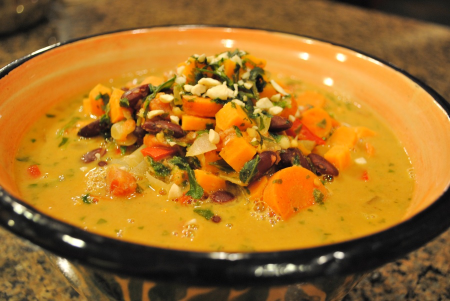 African Peanut Stew: http://vedgedout.com/2012/09/17/the-ultimate-ratbag/