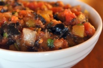 Sriracha and Olive Salsa Fresca: https://vedgedout.com/2012/10/12/sriracha-and-olive-salsa-fresca/