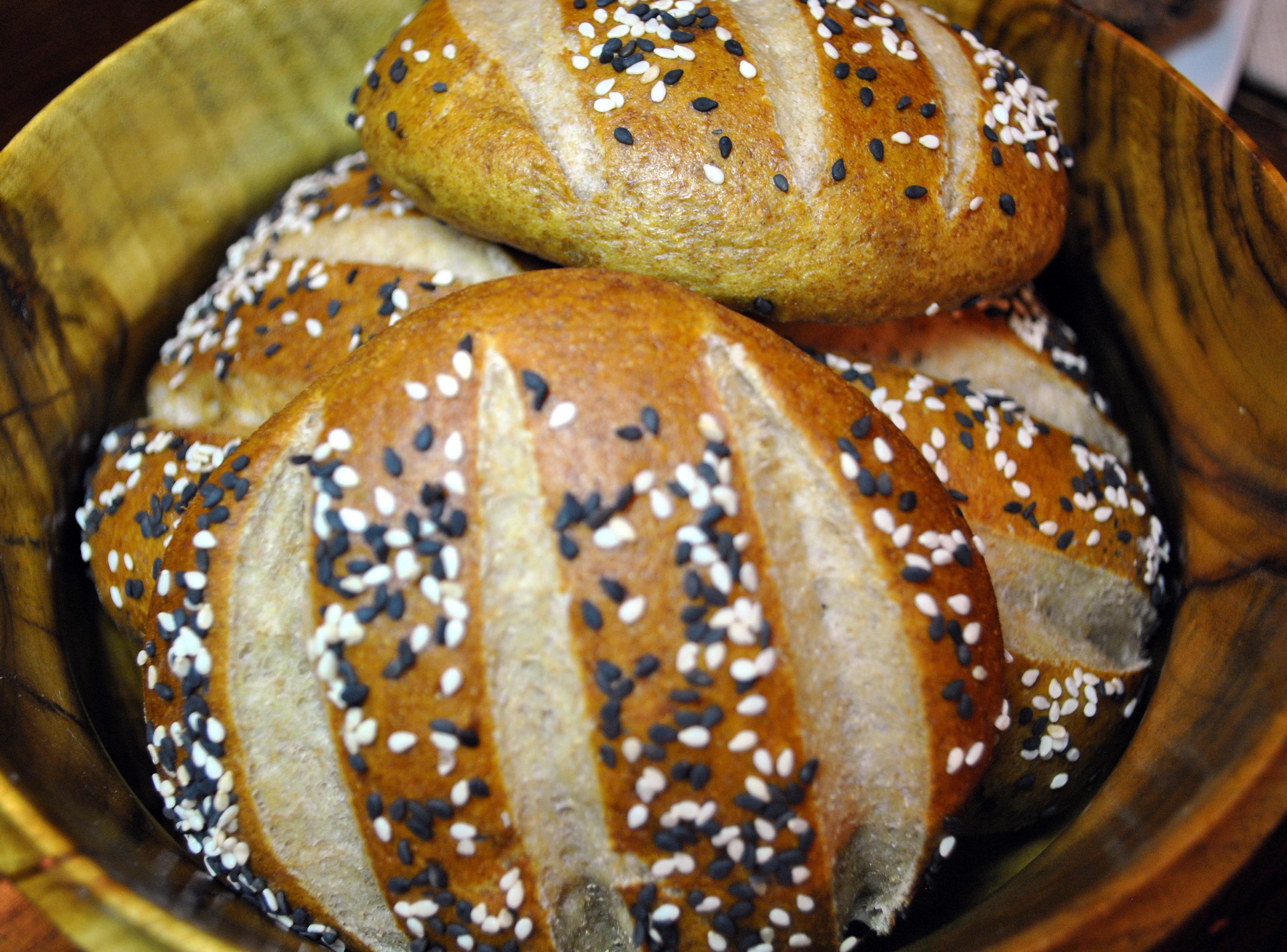 Whole Grain Pretzel Buns or Rolls | Vedged Out