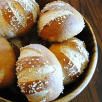 Pretzel Rolls: https://vedgedout.com/2012/10/02/whole-grain-pretzel-buns-or-rolls/