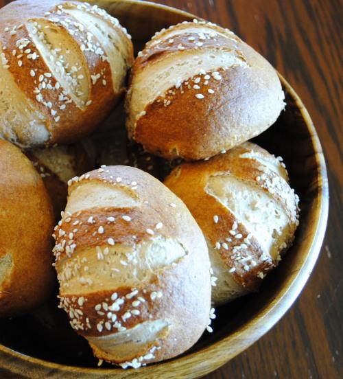 Pretzel Rolls: http://vedgedout.com/2012/10/02/whole-grain-pretzel-buns-or-rolls/