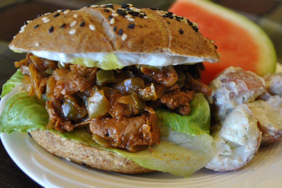 Vegan BBQ Sandwich: http://vedgedout.com/2012/10/17/vegan-bbq-sandwich/