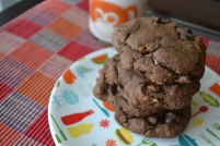Double Dark Chocolate Coconut Pecan Cookies: https://vedgedout.com/2012/11/09/double-dark-chocolate-coconut-pecan-cookies/