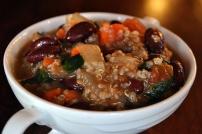 Quinoa Minestrone: https://vedgedout.com/2012/11/26/breaking-a-fast-quinoa-minestrone/