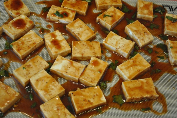 Tofu on Tray