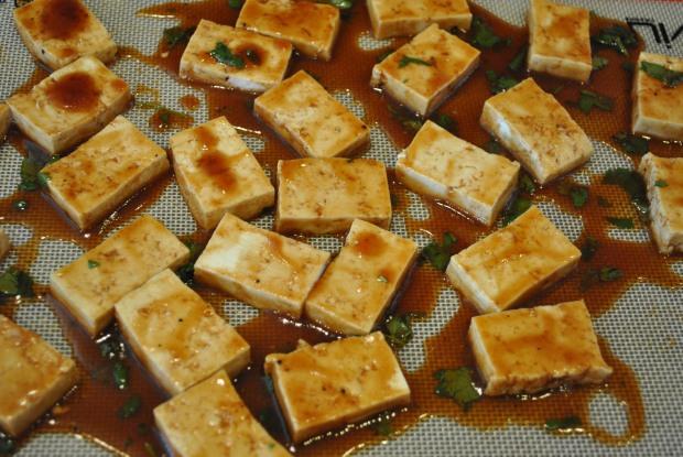 Tofu on Tray