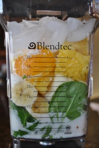 Tropical Colada Green Smoothie: https://vedgedout.com/2013/01/09/vedged-out-2013-green-smoothie-challenge-day-3/