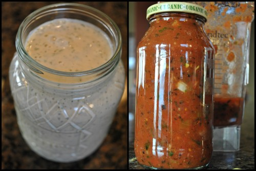 Vegan Ranch and Fire Roasted Salsa