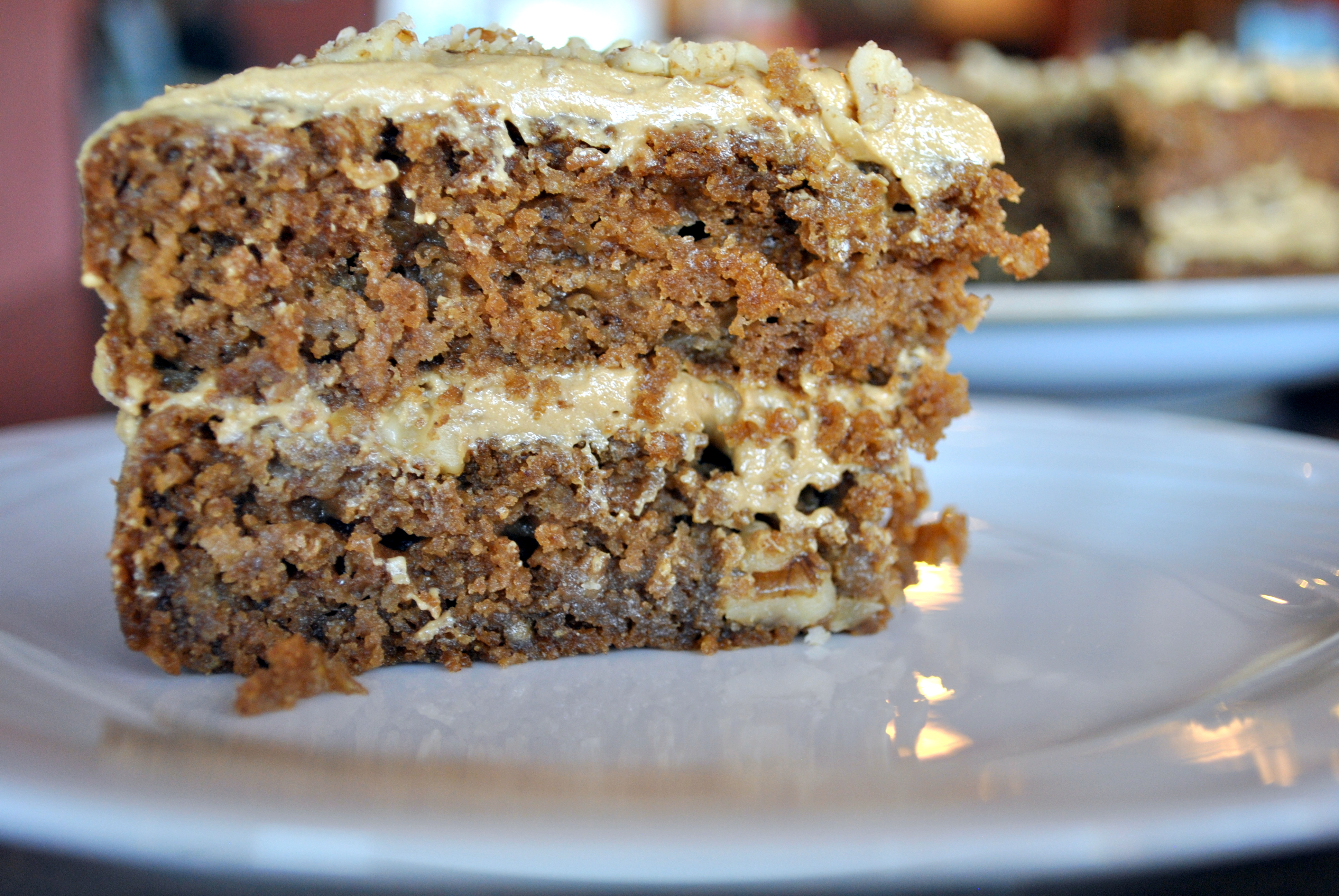 Apple Walnut Cake With Cream Cheese Icing