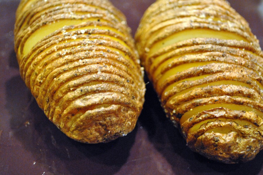 Frugal's Hasselback Potatoes: http://vedgedout.com/2013/02/27/featuring-frugal/