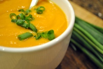 Frugal's Roasted Sweet Potato and Parsnip Soup: https://vedgedout.com/2013/02/27/featuring-frugal/
