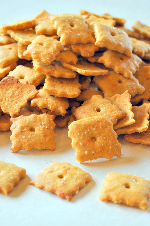 Vegan Cheez-It's: http://vedgedout.com/2013/03/08/vegan-cheez-it-crackers/