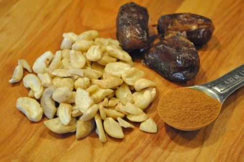 Dates, Cashews Cinnamon