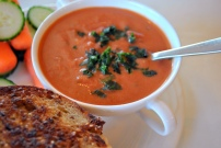 Tomato Basil Bisque: https://vedgedout.com/2013/04/12/caprese-vegan-grilled-cheese-sandwiches-with-vegan-tomato-basil-bisque/