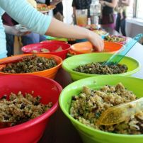 Curried Brown Rice Salad and Ultimate Lentil Salad