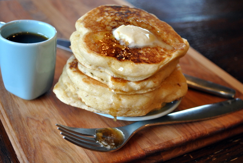 Fluffiest Maple Buttermilk Pancakes: https://vedgedout.com/2013/05/06/fluffiest-maple-buttermilk-pancakes/