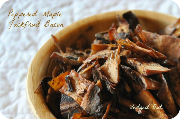 Peppered Maple Jackfruit Bacon