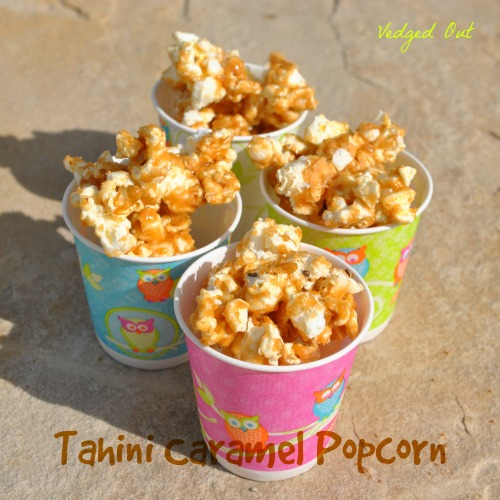 Tahini Caramel Popcorn