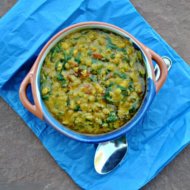 Coconut Spinach and Lentil Dal