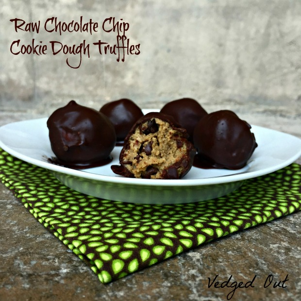 Raw Chocolate Chip Cookie Dough Truffles